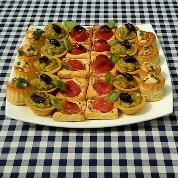 Finger Buffet menu dishes from Foxes Catering