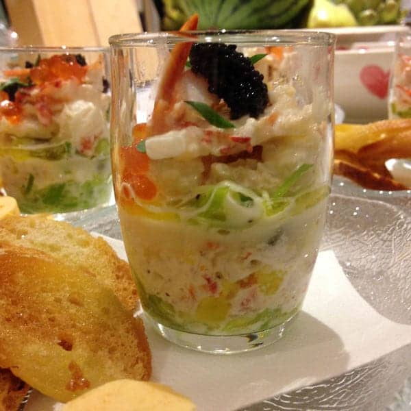 Starter menu dishes from Foxes Catering