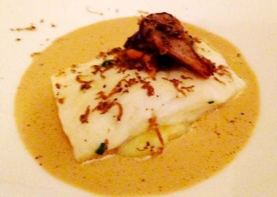 Halibut with Wild Mushroom Sauce Foxes Catering