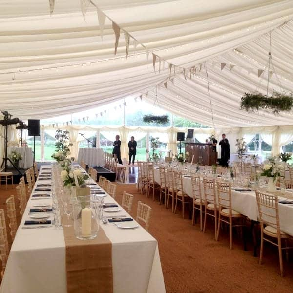 Wedding menus from Foxes Catering