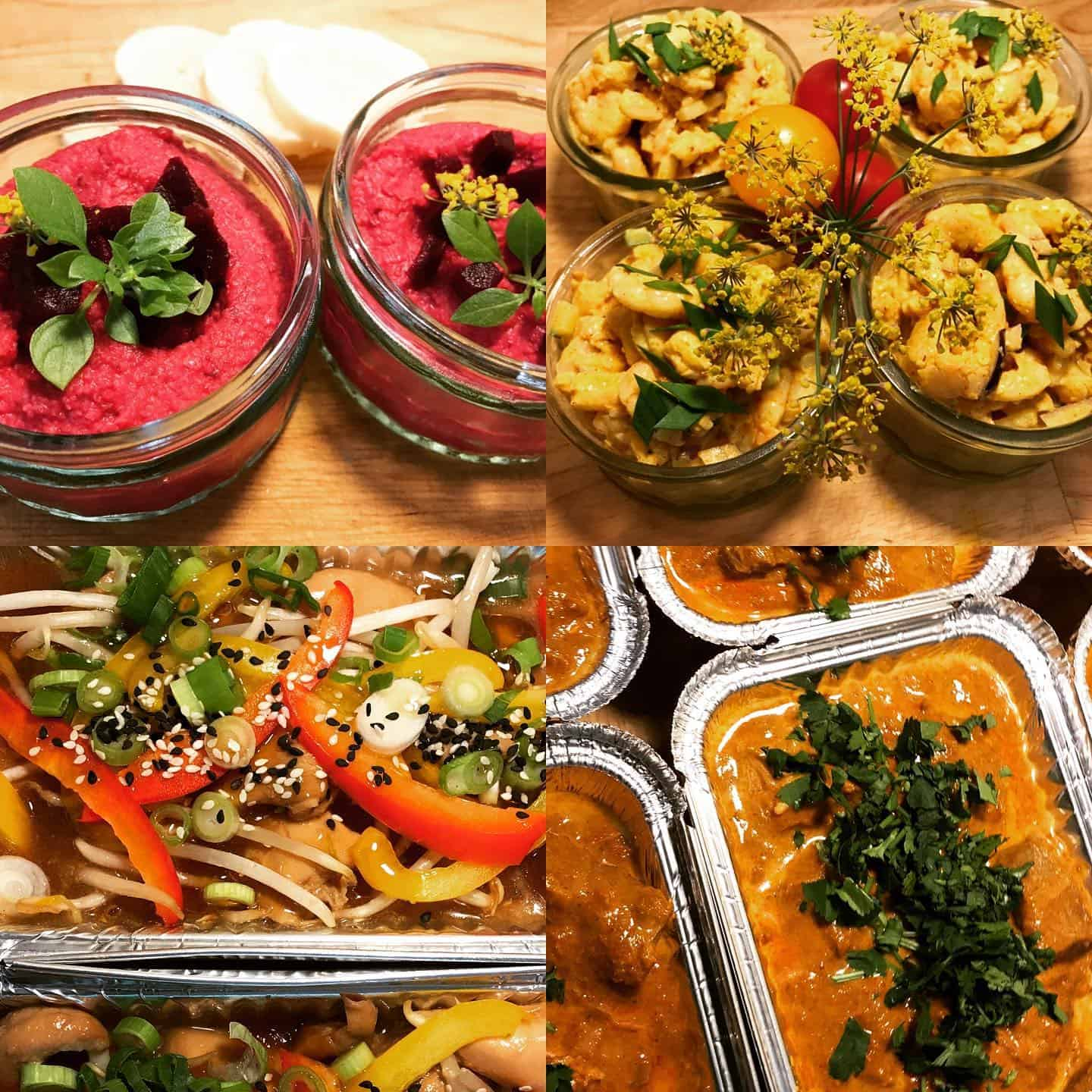 Restaurant quality food delivered to your door by Foxes Catering