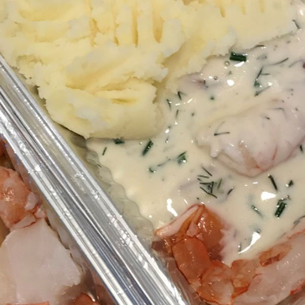 Mixed Fish Pie, food delivery from Foxes Catering